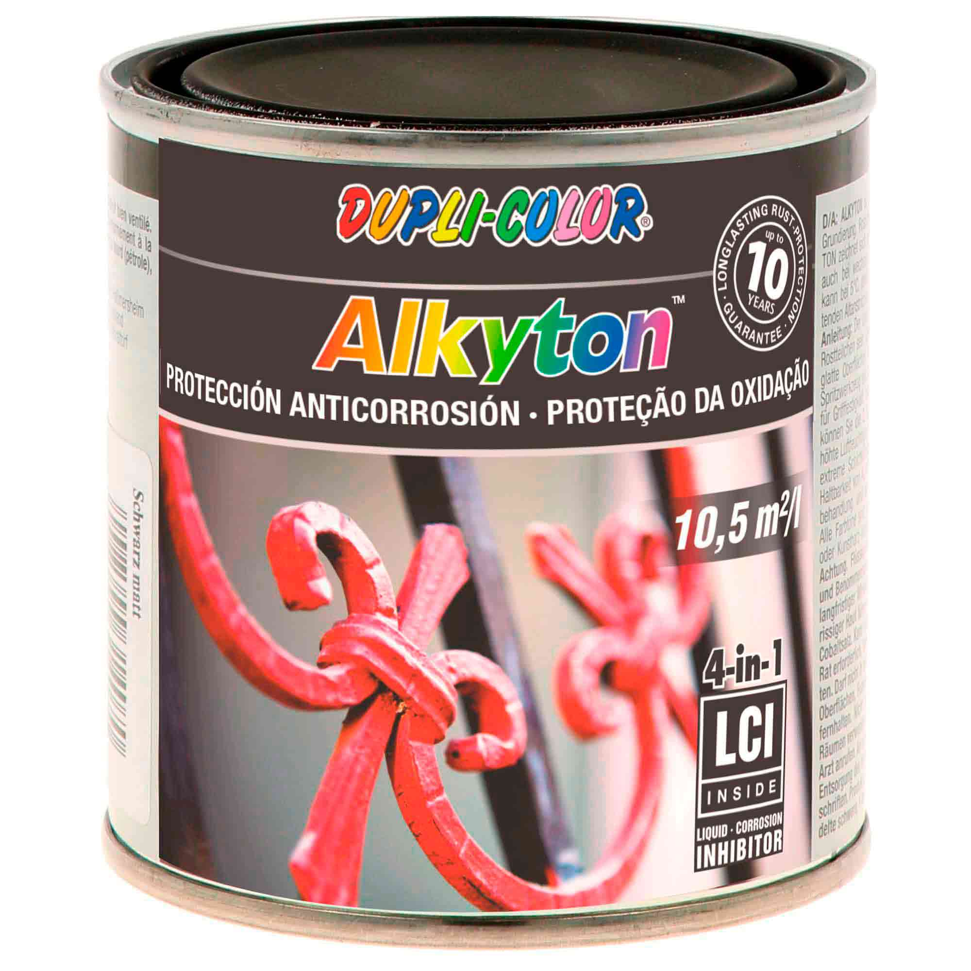 Tinta Antiferrugem Alkyton Preto Mate - RAL 9005 250ml