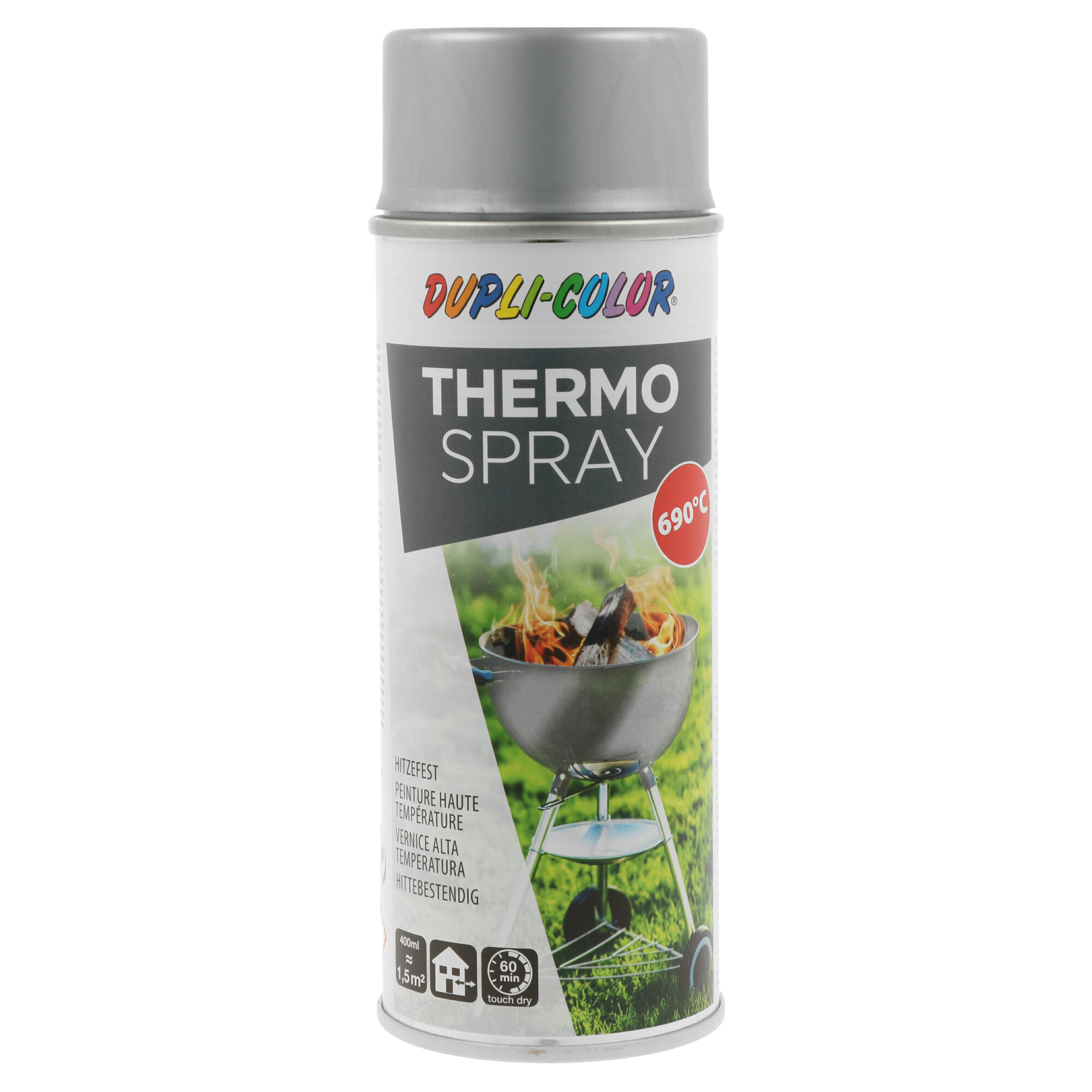 Spray Alta Temperatura Prata Mate 690°C 400 ml